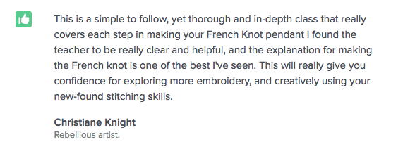 The French Knot: Testimonial